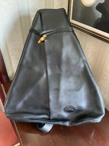 Longchamp Vintage Roseau Black leather large rucksack bag worn once in bag