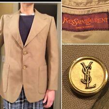 3a1b8c160c3 Vintage YVES SAINT LAURENT Men's Beige Suit Jacket Sport Coat Blazer Size  41-L