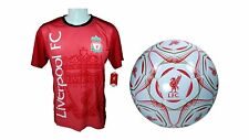 Liverpool F.C. Soccer Official Training Jersey & Size 5 Ball -18 Small