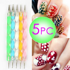 5Pcs/Set 2Way Marbleizing Dotting Manicure Painting Tools Dot Pen Nail Art Paint