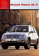 PROSPEKT 2003 SUZUKI GRAND VITARA xl-7 8 03 Car Brochure Auto prospetto auto PKW