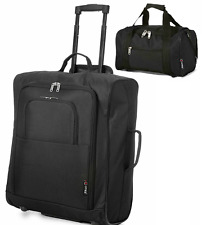 New Hand Luggage Cabin Approved Carry Flight Holdall Suitcase and Gym Bag Set UK