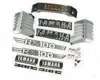 Yamaha RX100 Tank & Side Cover 3D Chrome Emblem Logo Monogram Kit S2u