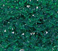 Emerald Green 18mm Starflake Sunburst Craft Beads 150pc Made in the USA