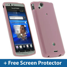 Rosa Tpu Gel Case Para Sony Ericsson Xperia Arc S Hd Android piel cubierta Titular