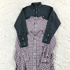 Lot Of 3 Polo Ralph Lauren Boys Youth Plaid Button Up Shirts Long Sleeve L 14-16