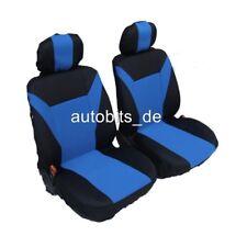 2 vordere Sitzbezüge Schonbezüge Blau Schwarz Polyester für Seat Skoda Toyota VW