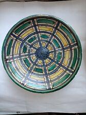 Plat céramique polychrome Maroc 19eme