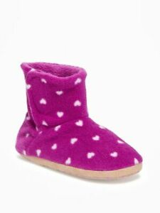 NWT GIRLS OLD NAVY BOOTIES SLIPPERS SIZE XS FITS TODDLER SHOE SIZE 3 4 5 WINTER