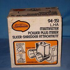VTG NOS Sunbeam Mixmaster Power Plus Slicer Shredder Attachment New in Box!