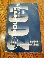 2007 Polaris Dragon Owners Manual Snowmobile