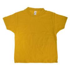 T-shirts, débardeurs et chemises jaunes 6 ans pour garçon de 2 à 16 ans en 100% coton
