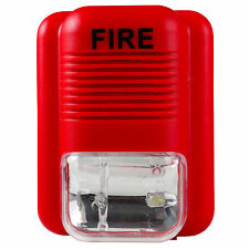 Sound And Light Fire Alarm Warning Strobe Siren Horn Alert Safety System Sensor;