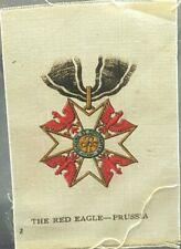 Rare Antique Cigarette Silk Premiums Tobacciana The Red Eagle - Prussia c1900