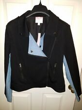ROMEO & JULIET COUTURE BLACK/BLUE DENIM JACKET $218.00