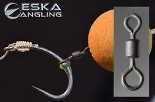 large eye hook rig swivel quantity 20 swivels black carp fishing tackle