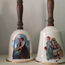 norman rockwell Fine China bells. 9� Tall