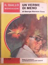 LIBRO GEORGE HARMON COXE - UN VERME DI MENO - GIALLO MONDADORI 869