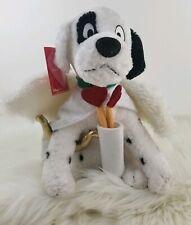 "Disney Store 101 Dalmatians Patch Valentines Cupid Angel Puppy Dog Plush 12"" NWT"
