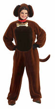 Adult Puddles The Puppy Costume Brown Dog Animal Suit Size Standard