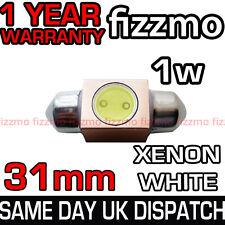 31mm 1w Smd Led De Alta Potencia matrícula Luz Festoon bombilla de xenón blanco Aluminio