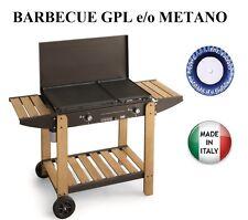 BARBECUE PIASTRA A GAS LUGANO 586 MULTIGAS GPL O METANO P6,6 KW MADE IN ITALY