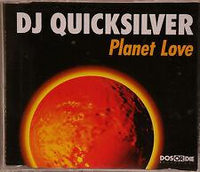 """DJ QUICKSILVER """"Planet Love"""" 4-Track Maxi-CD 1997"""