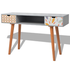 Grey Console Table Hallway Office Tables Drawer Storage Wood Scandinavian Design