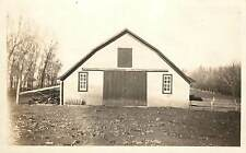 c1910 Real Photo Postcard; Beautiful Old Symmetrical Barn, Unknown US Location