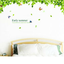 Removable Vinyl Wall Stickers Flying Butterflies Green Tree Home DIY Decor Decal