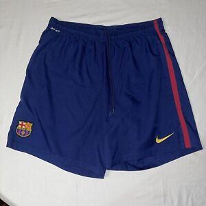 FC Barcelona Barca Blue Home Football Soccer Training Shorts Nike Mens Size 2XL