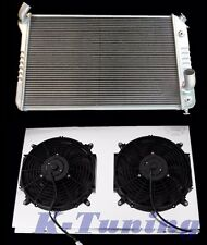 "3 ROWS STAMP RADIATOR COMBO w/SHROUD 2x12"" FAN CHEVY CORVETTE 5.7L 7.4L 73- Base"