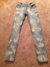 Juniors True Rock Embellished Low Rise Skinny Jeans Size 5/6