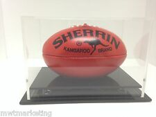 Mini AFL Football Deluxe Ball Acrylic Perspex Display Case Signed Autographed