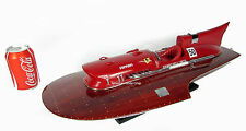 "Ferrari Hydroplane 20"" Wooden Speed Boat Model Ship NEW"