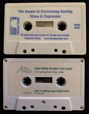 Help Sleep Anxiety Stress Depression Cassette Guided Relaxation Meditation Lot