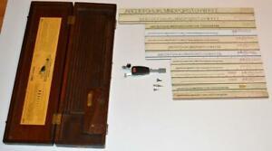 VTG 1950s Keuffel & Esser K+E Leroy Lettering Set w/  Wooden Box