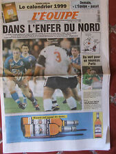 L'Equipe du 9/1/1999 - Rugby : ST Français/Ulster - Paris-Dakar- Mengin-Magnien