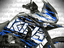 Kawasaki KLR 650 decals Super Rally Blue stickers graphic kit 2008-2017