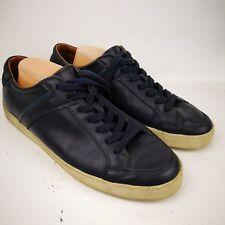 ZARA MEN LOW top SNEAKERS Dark Blue size 11 EURO 44 Upper Leather