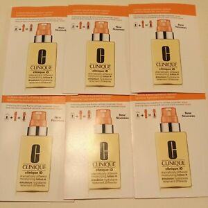 6 x CLINIQUE iD Dramatically Different moisturizing lotion + Fatigue Samples NEW