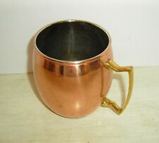 Copper Moscow Mule Mug Cup 16 oz. Nickel Lined Brass Handle by ODI