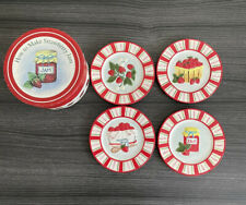 """MWW Market """"How to Make Strawberry Jam"""" Mini Plates In Box Set of 4 with Box"""