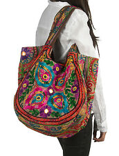 Brown Handmade Floral Shoulder Bag Women Fashion Handbag Tote Casual Summer