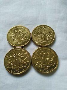 1 x 2018 4 coin XXI Commonwealth Games $1  Australian 1 dollar circ