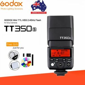 AU Stock Godox TT350S 2.4G TTL HSS Speedlite Flash For Sony Mirrorless Camera