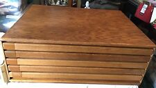 OAK 5 DRAWER Vintage Oak Art / Architectural Flat File