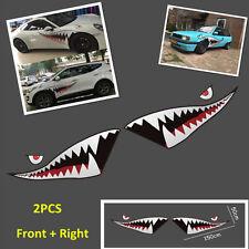 2x59'' Shark Mouth Tooth Flying Tiger Vinyl Car Exterior Side Door Sticker Decal