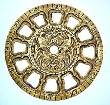 Cadran bronze brass uhr dial émail clock horloge pendule comtoise cartel P