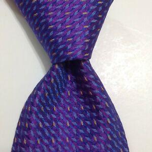 ROBERT TALBOTT Best of Class Silk XL Necktie ITALY Luxury Purple/Blue NWT $155